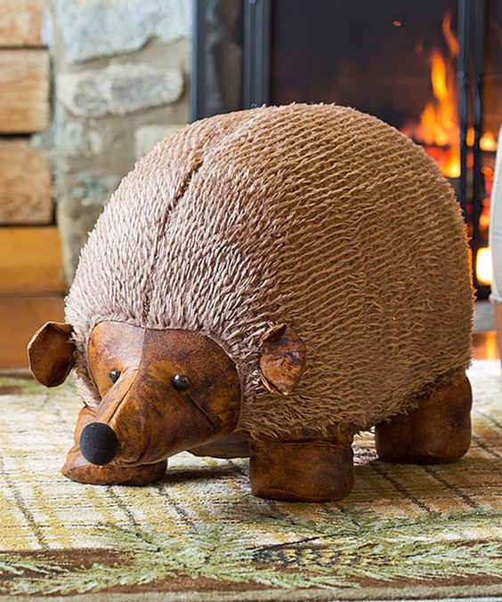 Look at this Brown Hedgehog Ottoman on #zulily today!