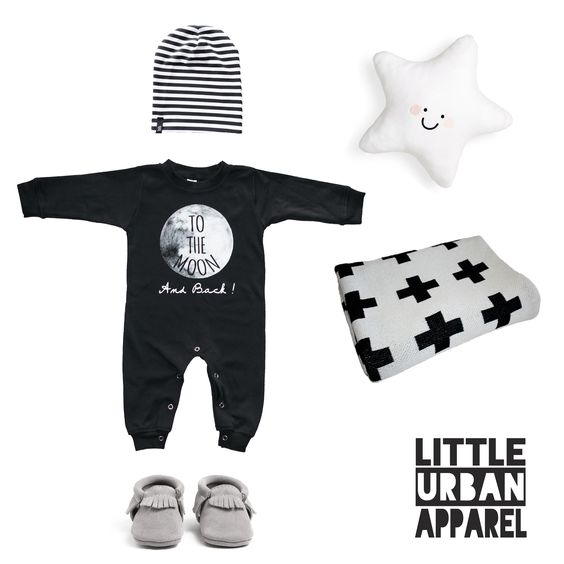 To the Moon romper littleurbanapperal Baby