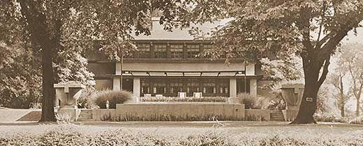 Frank Lloyd Wright's Westcott House, Springfield, OH (archival photograph)