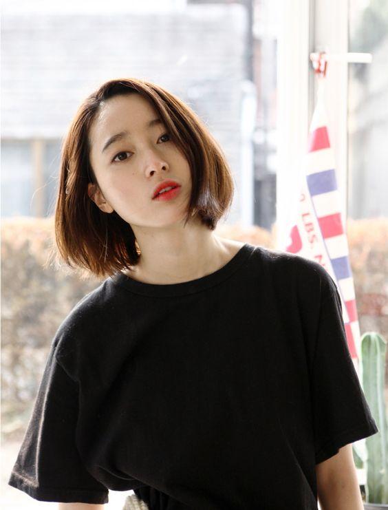 超魅力韩式【齐肩发、短发】已称霸天下啦 ! 让你自己容光焕发,告别长发迎接短发吧 !