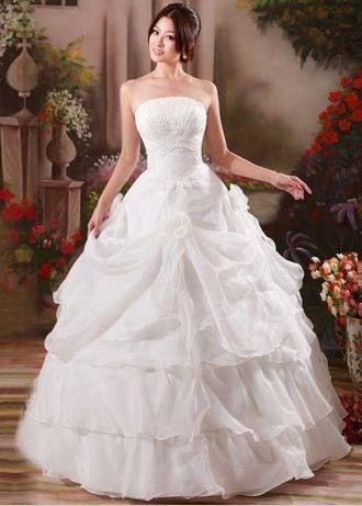 Vestidos de Noiva Branco Cetim Bordado
