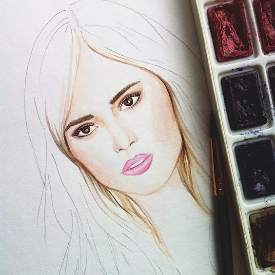 Suki Waterhouse #dollmemories #burberry #model #fashionillustration