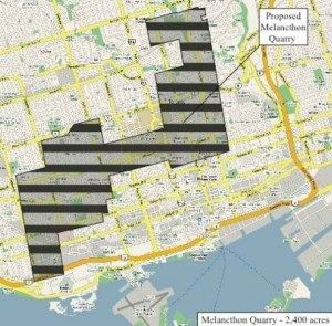 The proposed Mega Quarry is huge. Need some context? Pretend it was downtown Toronto...