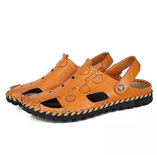 Summer Mens Outdoor Hiking Leather Sandals Hollow Out Fisherman Shoes Casual Hot