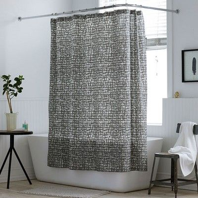 Brexton Criss Cross Abstract Shower Curtain The Company Store In