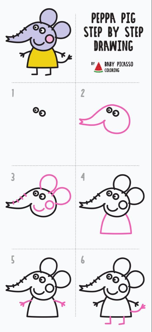 How To Draw Emily Elephant Peppa Pig Drawing And Coloring Pages Youtube Peppa Pig Drawing Pig Drawing Peppa Pig