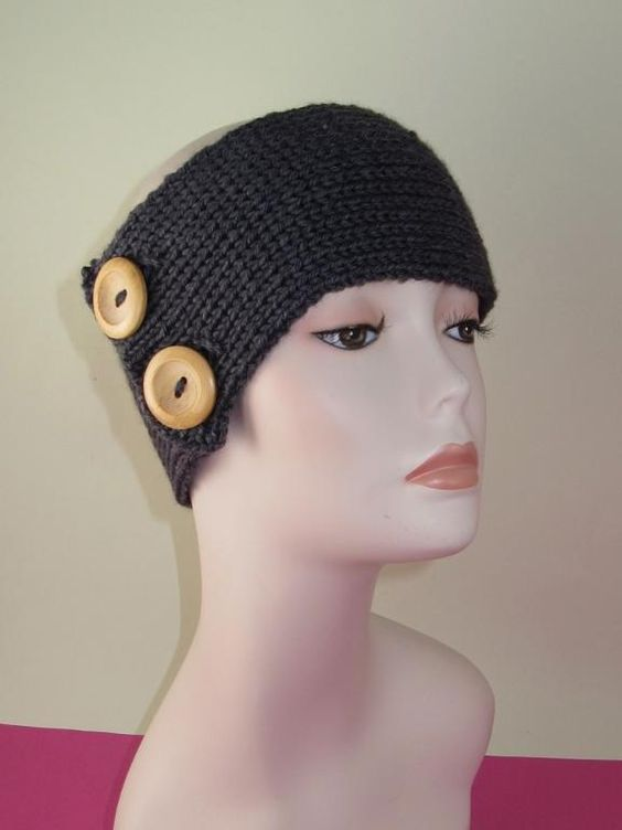 Knitted Headband With Button Pattern : Pinterest   The world s catalog of ideas