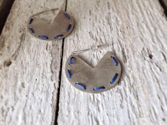 Minimal-Ohrringe-Creolen in 925er Silber-geometrische von CyKLu
