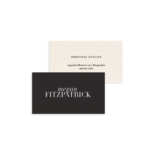 Stylish black and white business cards