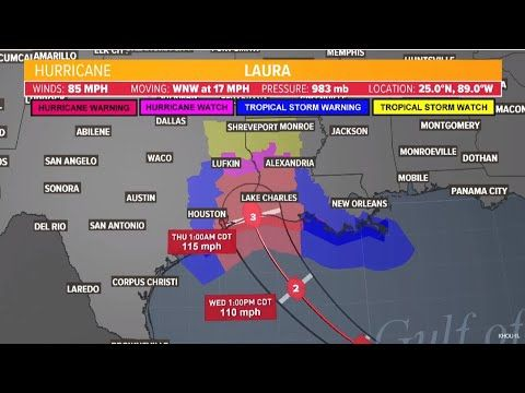 Hurricane Laura Track This Is The Latest Track And Forecast Models For Hurricane Laura 8 26 In 2020 Weather Hurricane Morgan City Louisiana National Hurricane Center