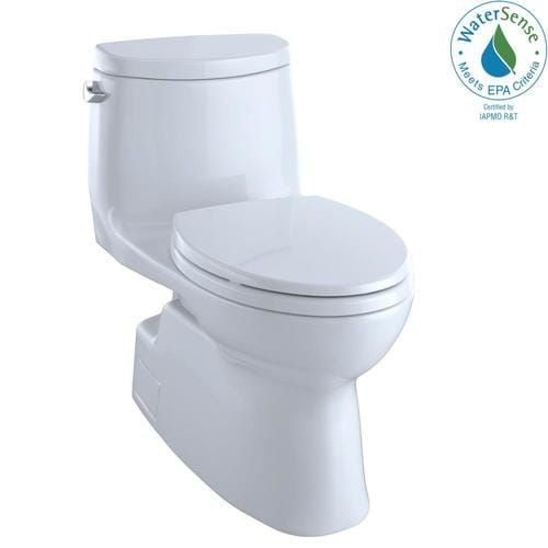Toto Carlyle Ii Cotton White Watersense Elongated Chair Height Toilet 12 In Rough In Size Ada Compliant Lowes Com In 2020 Water Sense One Piece Toilets Toto