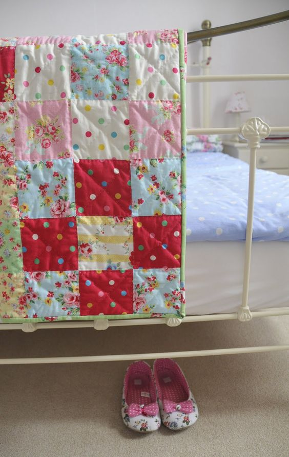 handmade beautiful quilt....the art quilts are beautiful, but when it comes to snuggling, you can't beat a soft and comfy handmade quilt with simple quilting.  These are the ones that get worn out by love.