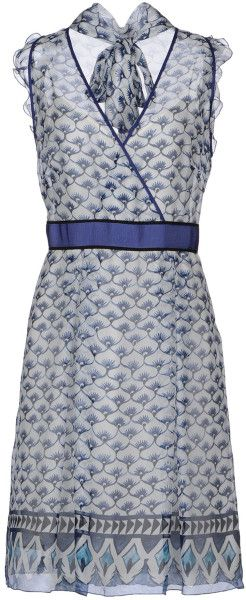 Philosophy Di Alberta Ferretti Blue Kneelength Dress