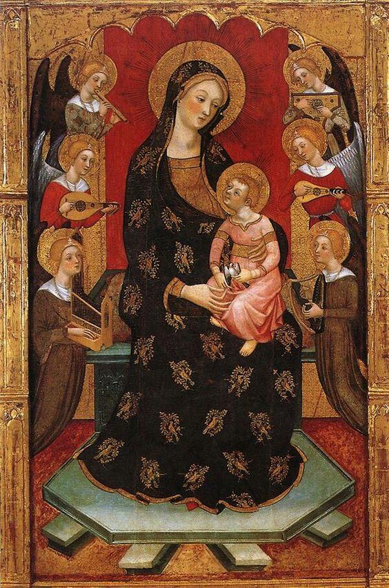 Sainte Vierge,  reine des Anges  Pedro Serra 1357-1406