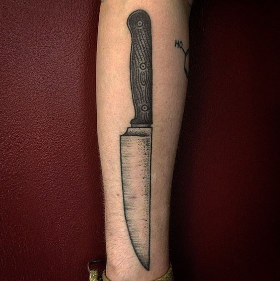 Thomas bates tattoo knife ink pinterest knives for Butcher knife tattoo