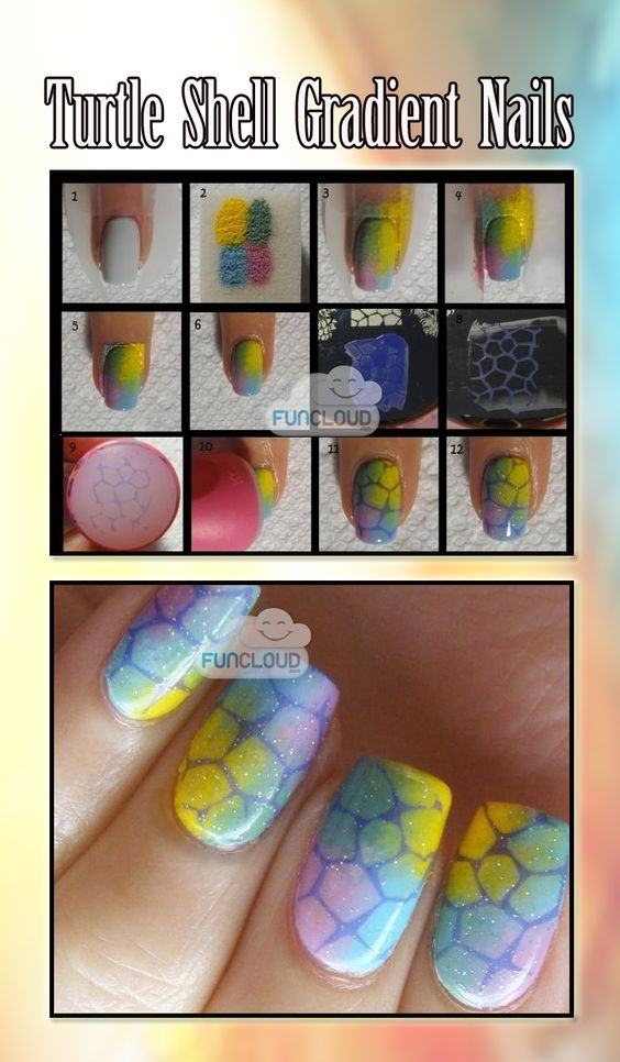 Turtle  Shell  Gradient  Nails