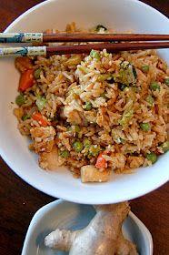 Ginger-Chicken Vegetable Fried Rice
