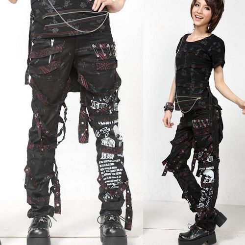 Cool Gothic Pants For Women Cyber Punk Goth Gothic Pants Shorts Leggings
