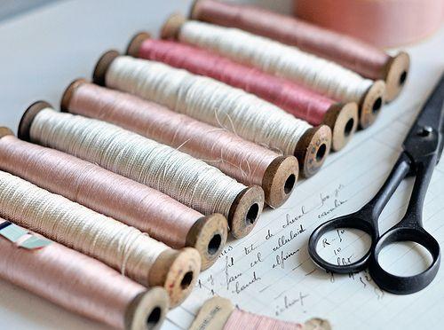 Antique Spools of Thread: