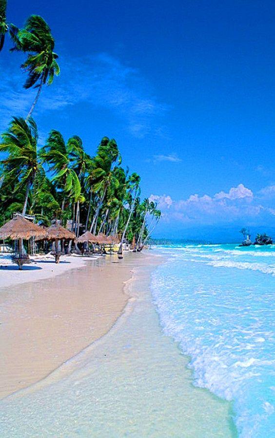 White Beach Boracay in the Philippines