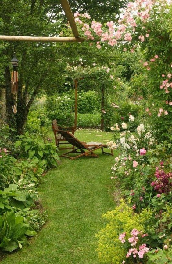 garden, cottage garden, outdoors