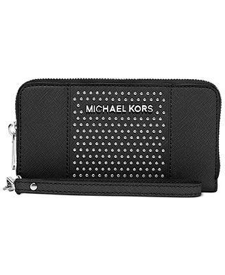 MICHAEL Michael Kors Microstud Center Stripe Large Coin Multifunction Phone Case
