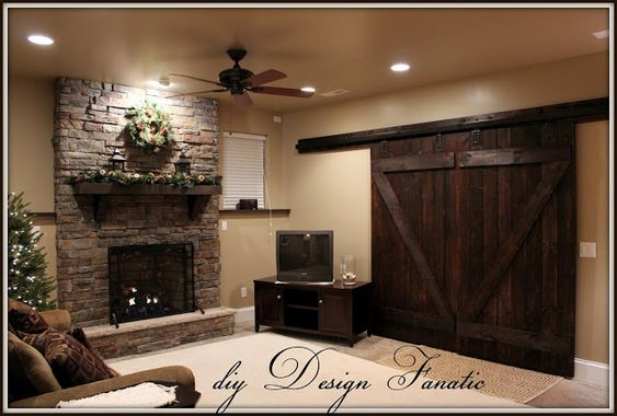 DIY barn doors from DIY Design Fanatic. She walks through just about every step, from what to buy, how to make the doors, and the cost. ~ $650 total (looking for this idea but on the cheaper end)