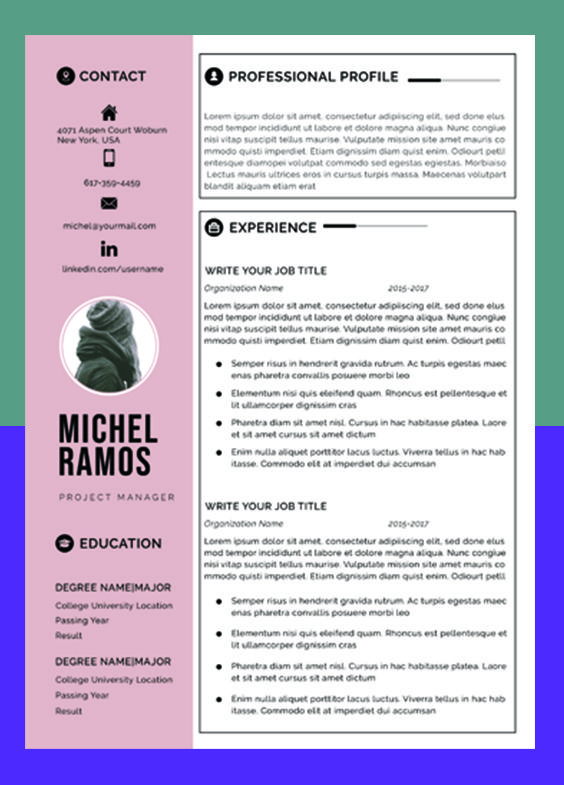 Resume Template Professional Microsoft Word Creative Resume