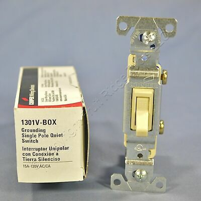 Details About New Cooper Ivory Toggle Wall Light Switch Single Pole 15a 120v 1301v Boxed In 2020