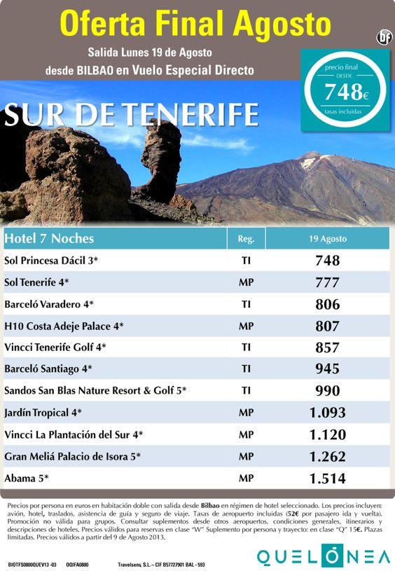 Oferta Final de Agosto Sur de Tenerife 7 Noches desde 748€ tax. incluidas. Salida dia 19 desde BIO - http://zocotours.com/oferta-final-de-agosto-sur-de-tenerife-7-noches-desde-748e-tax-incluidas-salida-dia-19-desde-bio/