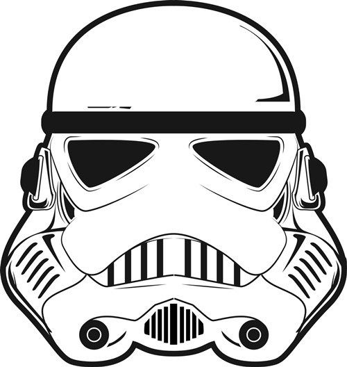 Stormtrooper Helmet 3d Illusion Lamp Vector File Star Wars Cartoon Star Wars Clone Wars Star Wars