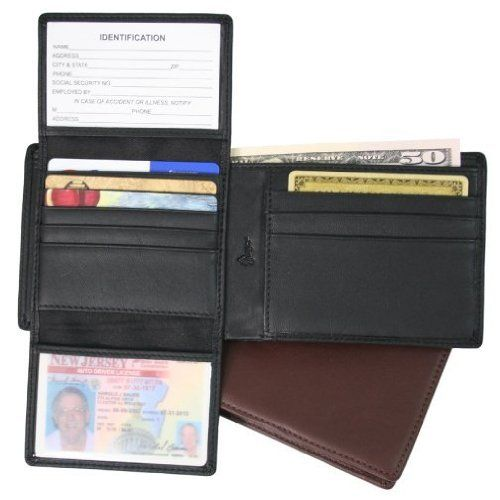 Royce Leather RFID109A-5 Royce Leather Rfid Blocking Euro Commuter Wallet - Black by Royce Leather. $57.00. RFID (RADIO FREQUENCY IDENTIFICATION) tags are now being placed in US Passports, credit cards and other forms of identification. Protect your information from hackers by using a Royce RFID Blocking Wallet. This Nappa Leather Bi-fold wallet features a built in shield that blocks radio frequencies embedded in your Credit Cards and IDs. Left inside features a d...