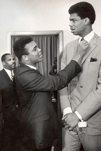 """""""Muhammad Ali is the epitome of the concept of the living legend. He has inspired and thrilled generations of fans around the world as an athlete and humanitarian. Throughout his life he has been one of a kind. They truly threw away the mold when he was born. """" Kareem Abdul-Jabbar"""