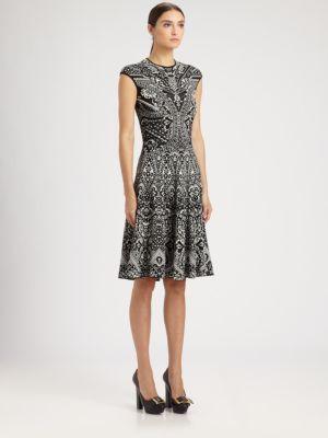 Alexander McQueen - Stained Glass Print Sleeveless Dress - Saks.com