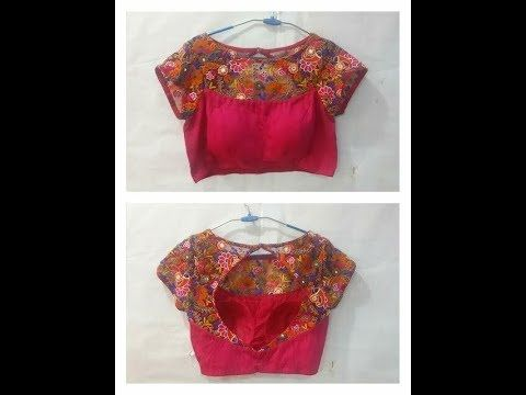Latest Boat Neck Blouse Design Front And Back Youtube Blouse