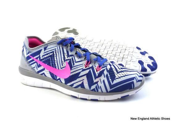 Nike women Free 5.0 TR Fit 5 Print training shoes size 9 - Wolf Grey / Pink $110 #Nike #RunningCrossTraining
