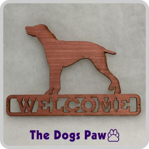 Laser Cut German Shorthair Pointer Welcome Sign #pointer #shopthedogspaw