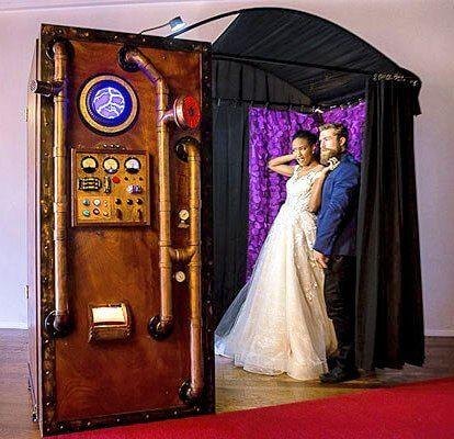 Vintage Rustic Steampunk Photo Booth Rentals In Kansas City Wedding Photo Booth Rental Rustic Photo Booth Photo Booth