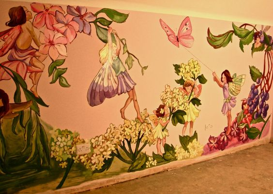 Fairies design and wallpapers on pinterest for Fairy wall mural