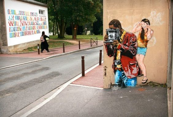 Street art art.  Jana & JS (arte di strada)