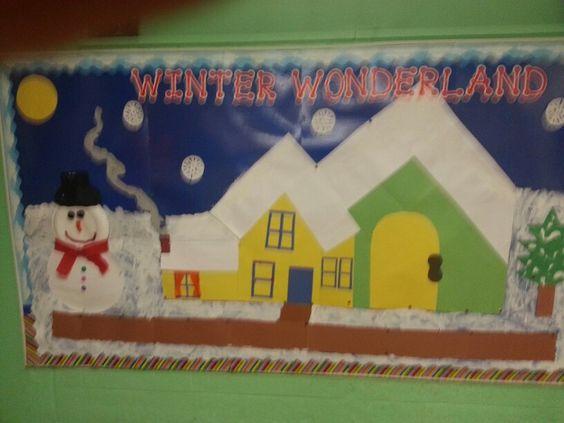 Preschool winter board
