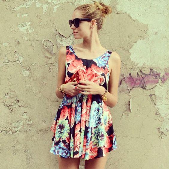 Loving this flower print on our favorite Italian fashion blogger!