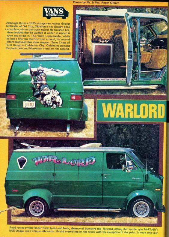 1975 Dodge Van : dodge, Vantasia, Custom, Vans,, Vintage