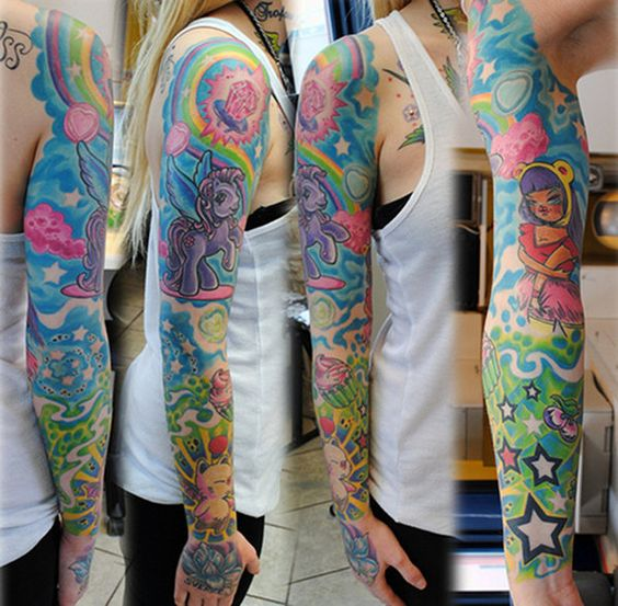 my little pony tattoo sleeve -- yup. awesome.