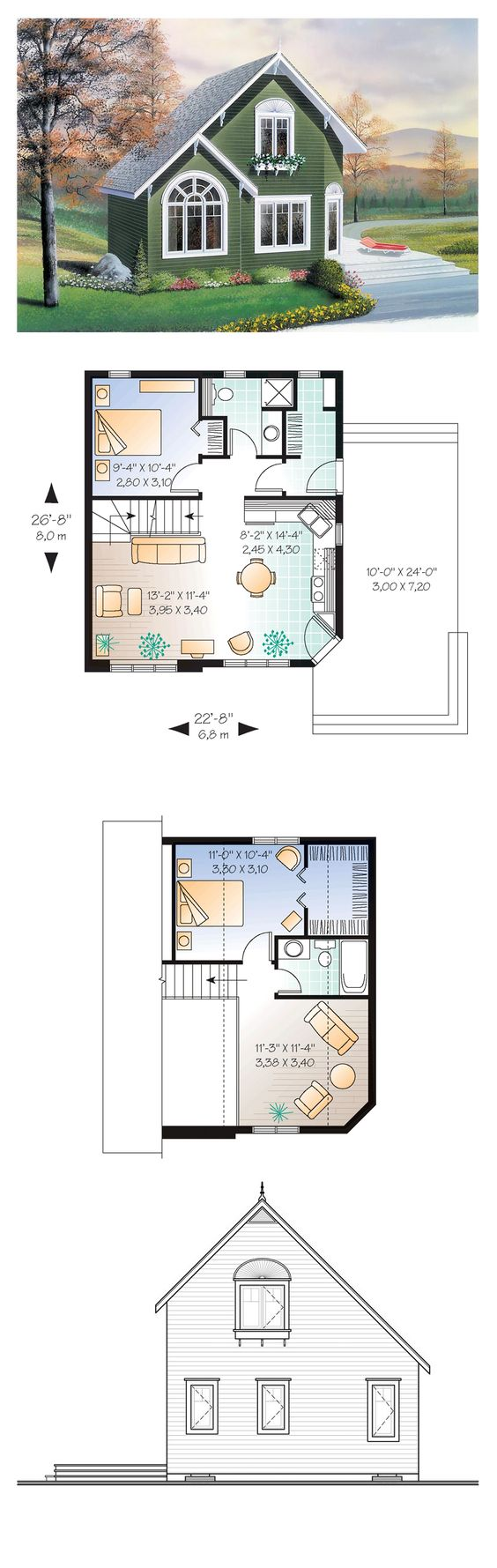 Country House Plan 76168 House Over The And Living Rooms