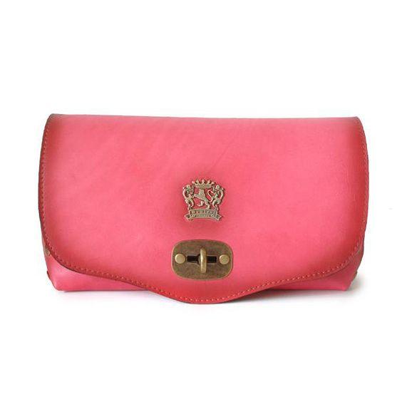 Attavanti - Pratesi Castel Aged Italian Leather Shoulder Bag - Pink, £165.00 (http://www.attavanti.com/luxury-italian-leather-designer-handbags/pratesi-castel-aged-italian-leather-shoulder-bag-pink/)