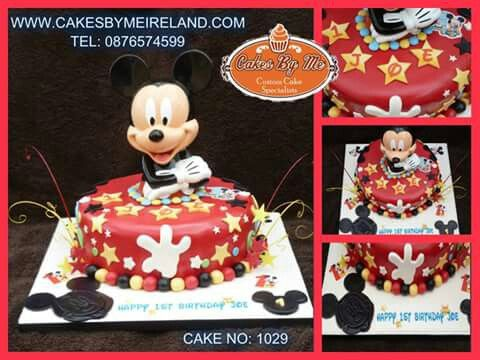 Joe celebrated his 1st Birthday over the weekend in keadue and had this Mickey Mouse Cake for his big day.