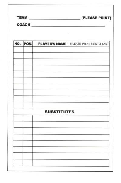 baseball line up card lineupCARDS - Recreational Baseball - baseball roster template