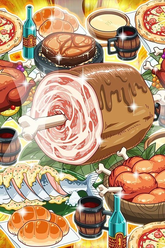 How Does Animated Food Look Better Than Real Food Japanese Food Illustration One Piece Anime Food Illustrations Chibi anime food wallpaper