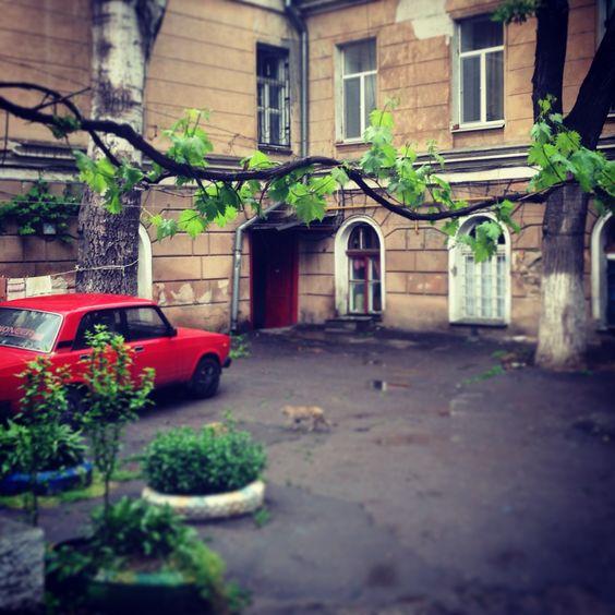 Кардиограмма одесского двора. #Одесса #дворик #весна #Украина #Odessa #yard…